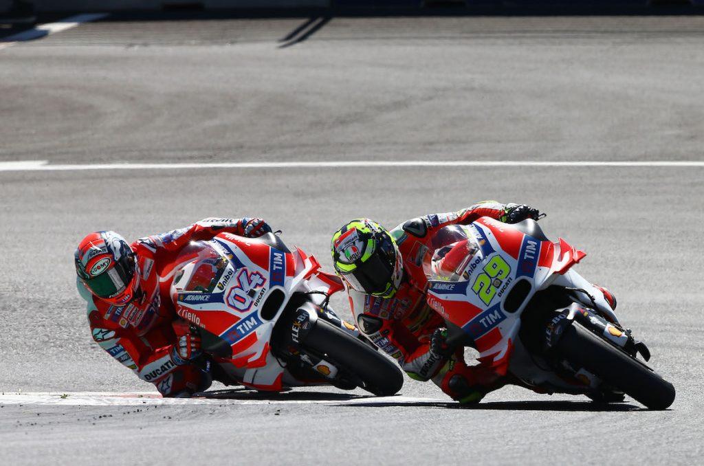 Iannone, Dovizioso, Austrian MotoGP 2016