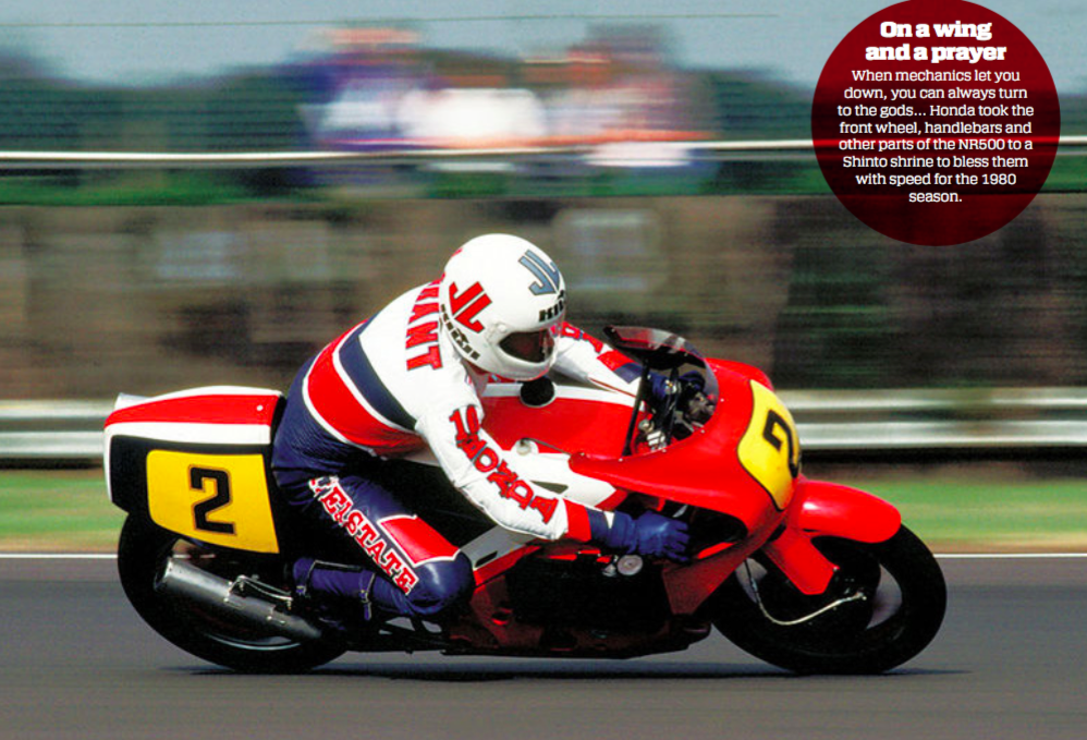 Mick Grant on the NR500 in 1979