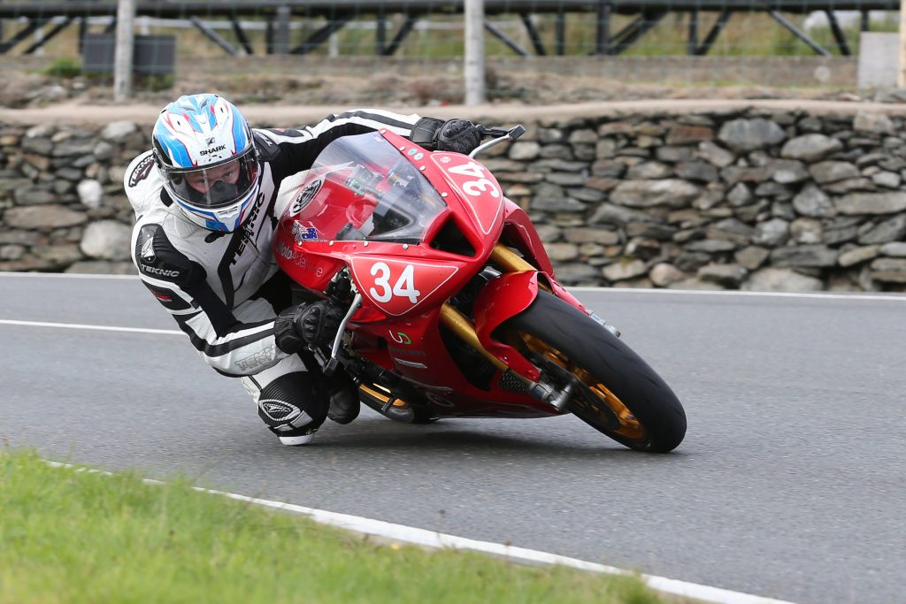 DAVE KNEEN/PACEMAKER PRESS, BELFAST: 29/08/2016: Paul van der Heiden (650 Ducati Monster) at the Creg ny Baa in the IMGold Newcomers Race 'B'.