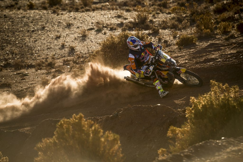 Toby Price (AUS) of Red Bull KTM Factory Team races during stage 07 of Rally Dakar 2016 from Uyuni, Bolivia to Salta, Argentina on January 9, 2016