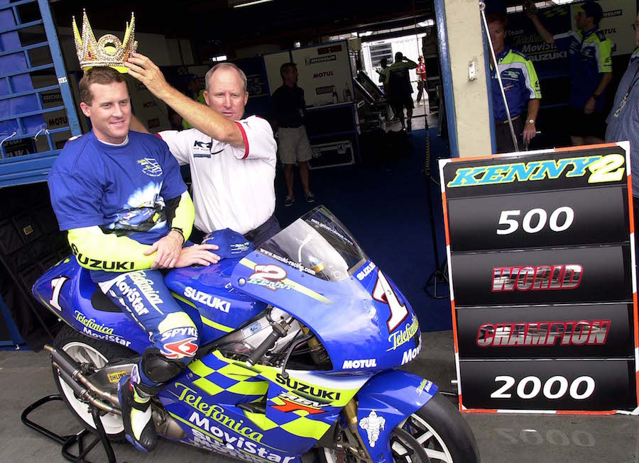 Roberts Snr. and Jnr. portrait Rio GP 2000