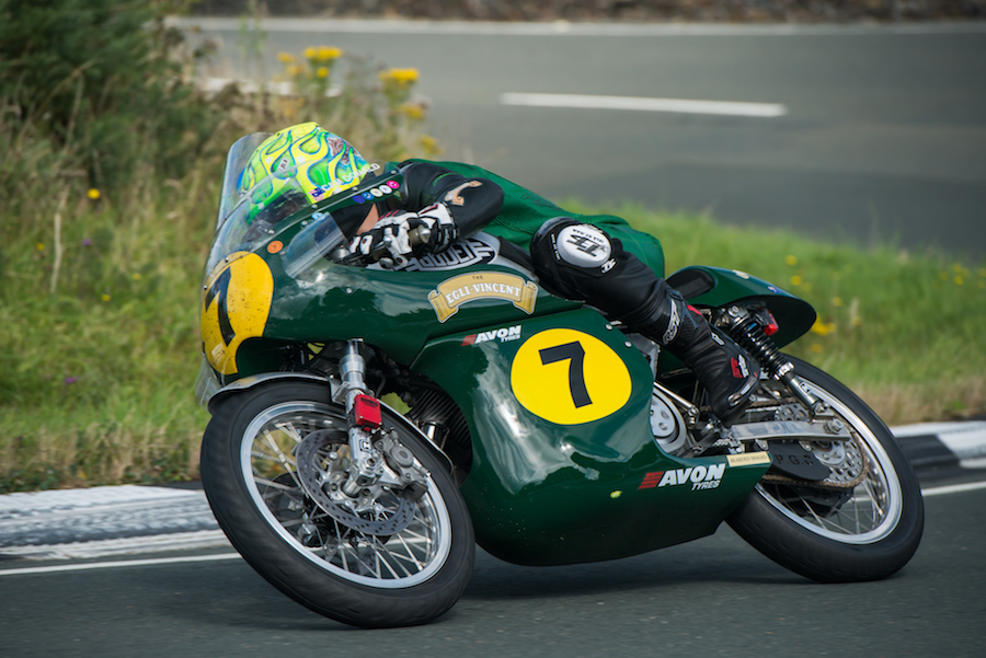 Cam Donald won the Peter Williams trophy for highest placed AJS or Matchless