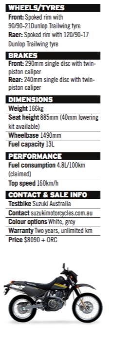 suzuki dr-650 bike five lams adventure special - australian