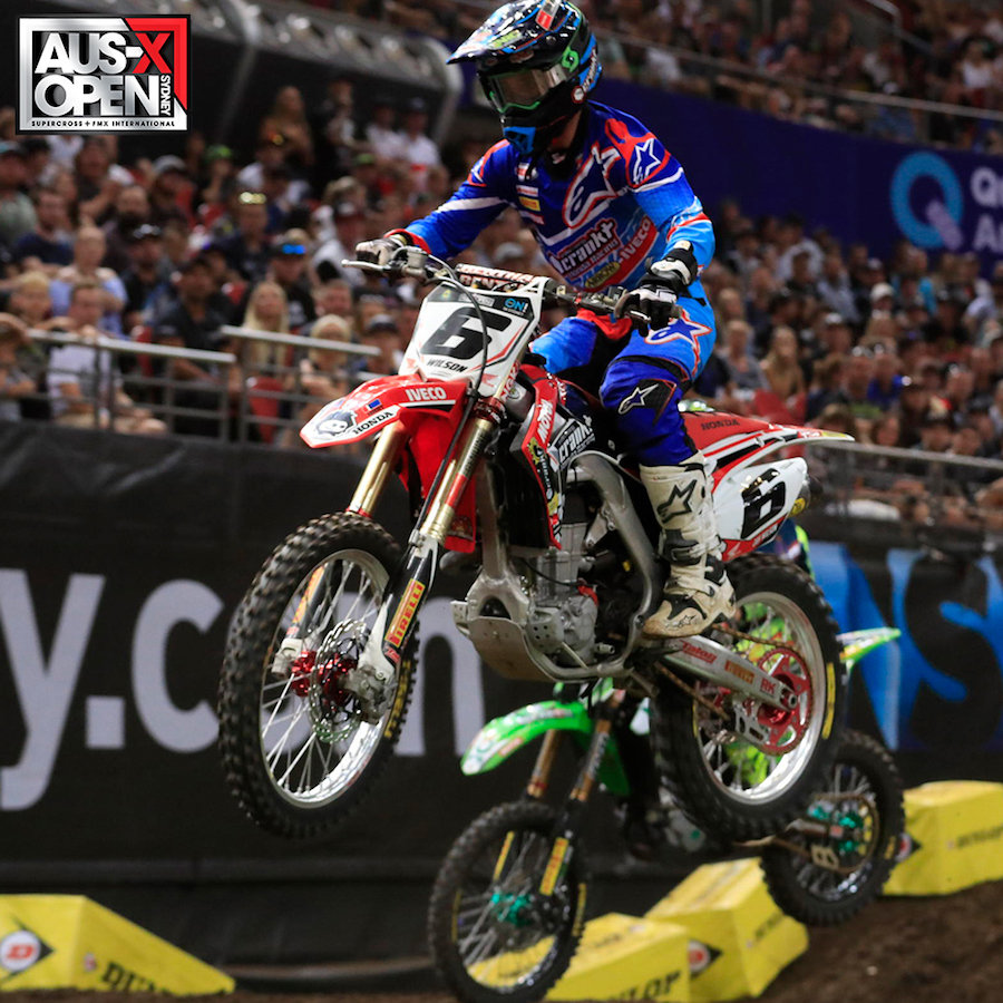 Crankt Protein Honda Racing Team's Chris Alldredge and Jay Wilson have wrapped up the final two rounds of the 2016 Australian Supercross Championship over the weekend in strong positions.