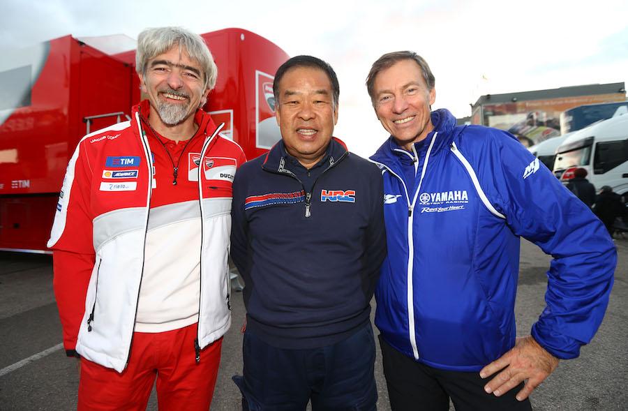 Dall'Igna, Nakamoto, Jarvis, Valencia MotoGP test, November 2016