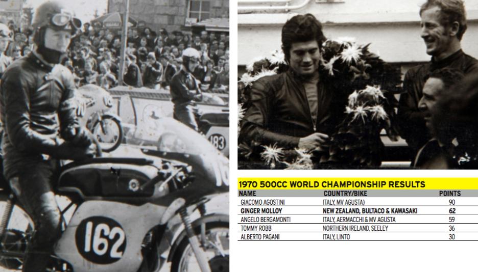 LEFT: Nürburgring start, 1964 FAR RIGHT: Giacomo Agostini and Molloy, Nürburgring 1970