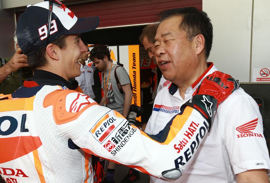 Marquez and Nakamoto, Qatar MotoGP, 2016