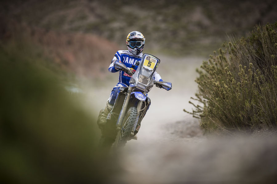 Helder Rodrigues (PRT) of Yamalube Yamaha Official Rally Team races during stage 05 of Rally Dakar 2017 from Tupiza, to Oruro, Bolivia January 06, 2017
