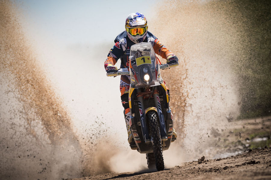 Toby Price (AUS) of Red Bull KTM Factory Team races during stage 02 of Rally Dakar 2017 from Resistencia to Tucuman, Argentina on January 3, 2017