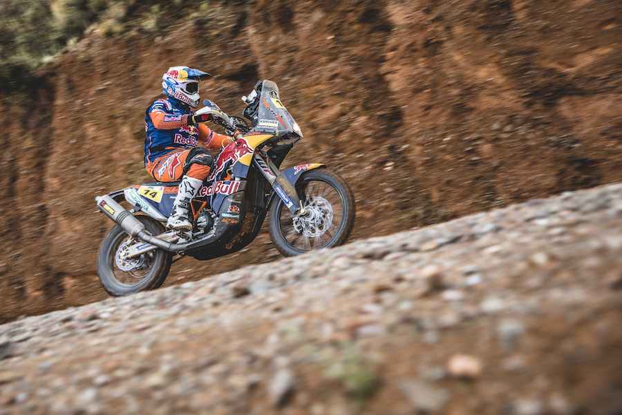 Sam Sunderland (GBR)) of Red Bull KTM Factory Team races during stage 5 of Rally Dakar 2017 from Tupiza to Oruro, Bolivia on January 6, 2017.