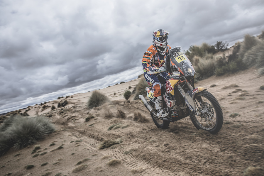 Matthias Walkner (AUT) of Red Bull KTM Factory Team races during stage 7 of Rally Dakar 2017 from La Paz to Uyuni, Bolivia on January 9, 2017