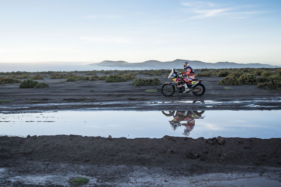 Sam Sunderland (GRB) of Red Bull KTM Factory Team races during stage 08 of Rally Dakar 2017 from Uyuny, Bolivia to Salta, Argentina on January 10, 2017