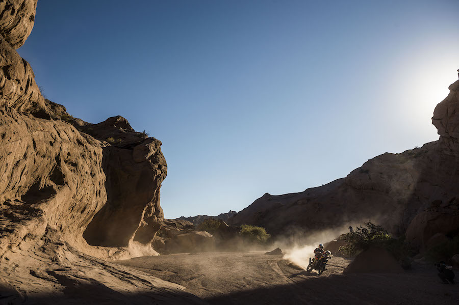 Sam Sunderland (GRB) of Red Bull KTM Factory Team races during stage 10 of Rally Dakar 2017 from Chilecito to San Juan, Argentina on January 12, 2017