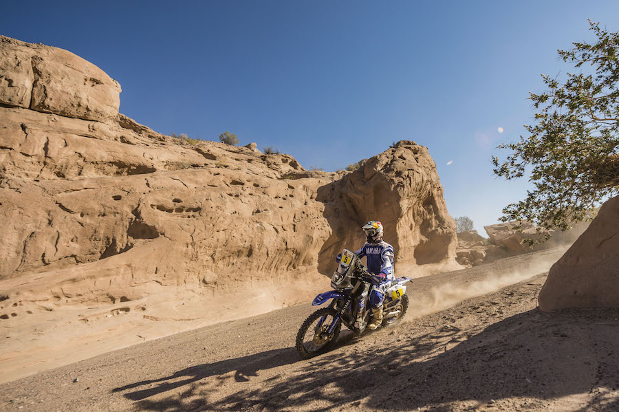Helder Rodrigues (PRT) of Yamalube Yamaha Official Rally Team races during stage 10 of Rally Dakar 2017 from Chilecito to San Juan, Argentina on January 12, 2017