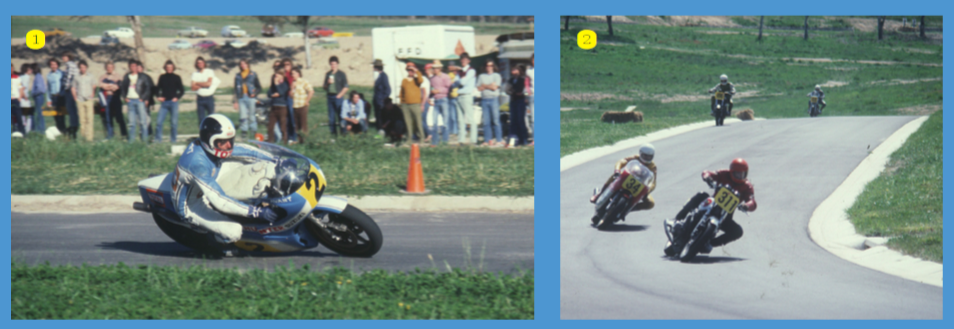 1. Star of the first meeting at MacArthur Park in 1978, Stu Avant on the Team Hunter Suzuki RG500 2. Again at the opening Macarthur Park meeting, Roy Denison (Kawasaki) leads Jim Scaysbrook (NCR Ducati)