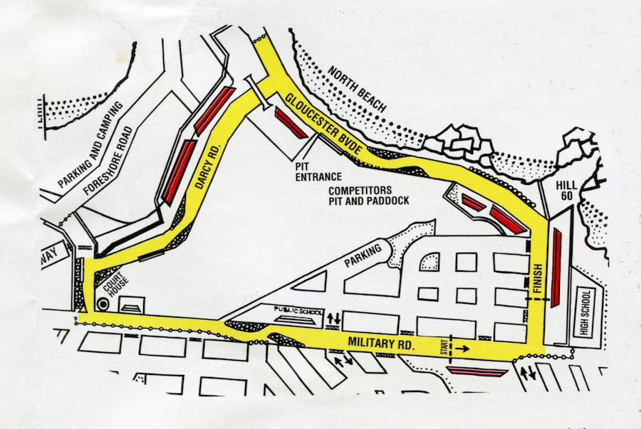 Port Kembla circuit map