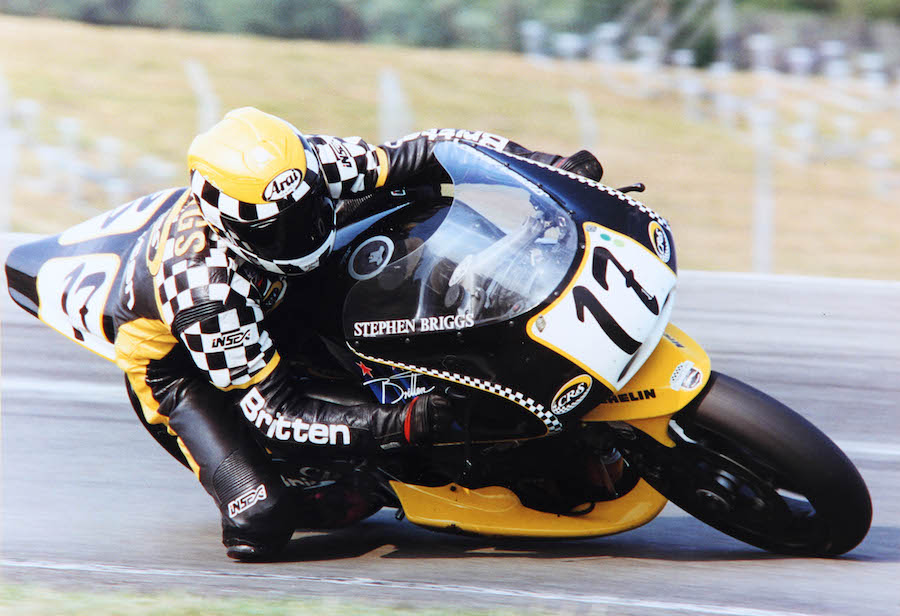 Stephen Briggs racing the CR&S Britten, Europe 1995  1mChris
