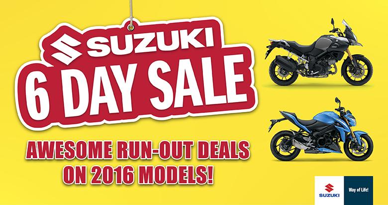 suzuki 6 day sale - australian motorcycle news