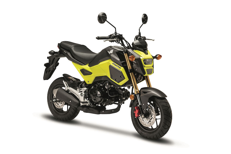 2018 honda grom. modren 2018 completing the mischievous guise with a compact upswept tail unit higher  pillion seat and short underslung exhaust honda grom means business on  on 2018 honda grom