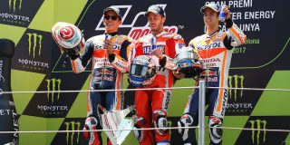 With Marquez and Dovizioso ...