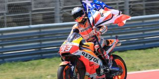 Marc Marquez takes the win ...