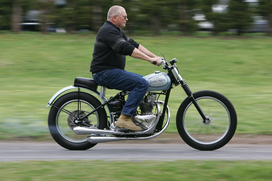 1955 T100/R factory flat-tracker - Australian Motorcycle News