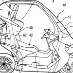 BMW FILES PATENTS FOR ENCLOSED ELECTRIC TWO WHEELER